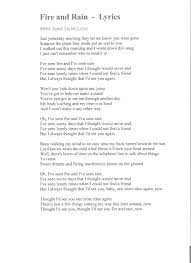 Long ago, but not so very long ago / the world was different, oh yes, it was / you settled down and you built a town and made it live / and you watched it grow, it was your town The Lyrics For Fire And Rain Sung By James Taylor Lyrics James Taylor Lyrics Guitar Tutorial