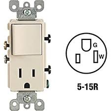 leviton asp amp volt combination decora switch switch and outlet combination