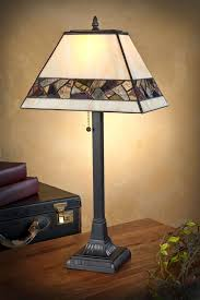 mosaic rectangle mission tiffany table lamp 23 h