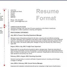 Best Resume Format 2014