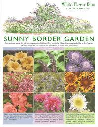sunny border garden plans designs