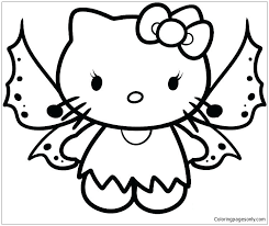 These coloring pages is really useful for early child education but you don't need become a teacher to create coloring books to print. Hello Kitty Butterfly Coloring Pages Cartoons Coloring Pages Free Printable Coloring Pages Online