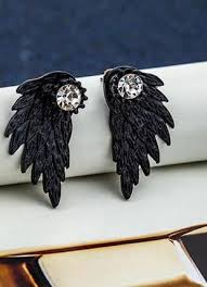 Необычайные <b>серьги джекеты</b> крылья ангела с <b>кристаллом</b> ...