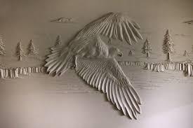 drywall art sculpture joint compound bernie mitchell 16