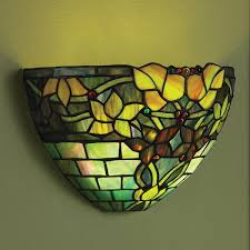 art glass wall sconce battery operated with remote control jewel tones