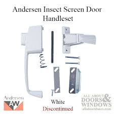 unavailable handle set andersen insect screen door discontinued andersen screen door handle