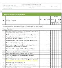 Project Management Template Word Project Lessons Learned Example Management Template Simple Templates