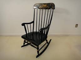 antique rocking chair vintage black rocking chair with gold stenciling antique wooden rocking chairs s
