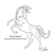 rearing horse drawing step by step. Beautiful Drawing Horse Rearing Drawing At GetDrawings With Step By I