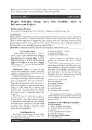 Basis Of Design Definition Engineering Project Definition Rating Index With Feasibility Study In