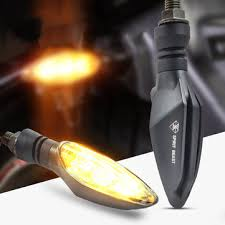 spirit beast 12v motorcycle led turn <b>signal steering lights</b> amber ...