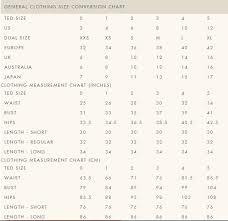 Ted Baker Size Chart Best Picture Of Chart Anyimage Org