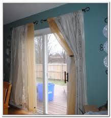 sliding glass door curtains ideas handballtunisie org with curtain