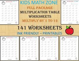 Kids Math Charts 141 Multiplication Worksheets Printable 2nd Grade To 4th Grade Math Math Chart