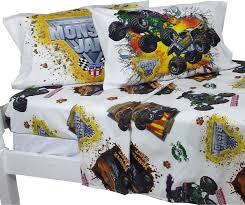monster truck toddler bedding set sevenstonesinc com