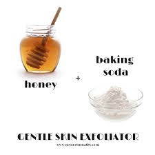 honey and baking soda gentle skin exfoliator diy face mask recipe