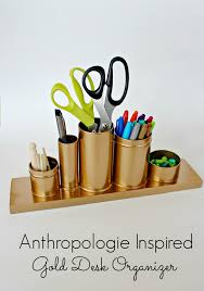 diy office supplies. diy gold desk oranigzer diy office supplies