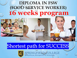 food service worker fsw diploma springfield college brampton diploma in food service worker