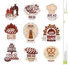 Set Of Retro Vector Bakery Logos And Bread Stock Vector