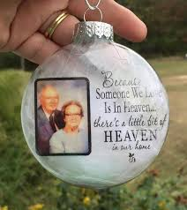 In memory Christmas ornament - Photo Christmas ornament - Memorial ornament  - Keepsake ornament - Remembrance ornament - Sympathy gift