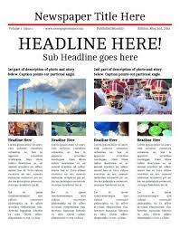 Create Newspaper Article Template Front Page Newspaper Article Format Writing A Template Feature