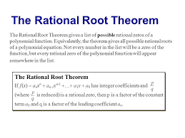 rational root theorem definition slide 3 pictures delectable the gives list possible zeros