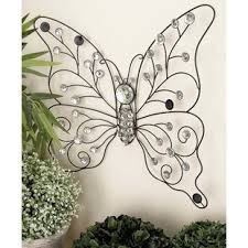 H Metal Butterfly Wall Dcor