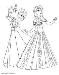 Elsa And Anna Coloring Page Frozen Coloring Pages Sheets #7245