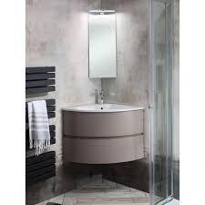 bauhaus svelte matt coffee 60 corner vanity unit and basin