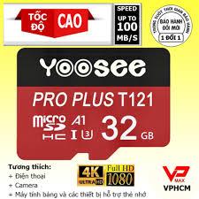 Thẻ nhớ Yoosee 32GB / 16GB tốc độ 100Mb siêu bền dùng cho điện thoại camera  giá rẻ 69.000₫