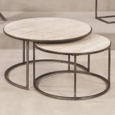 nesting coffee table unique hammary modern basics round nesting cocktail tables