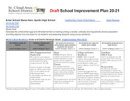 Draft School Improvement Plan 20-21