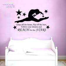 bedroom quote decals bedroom wall decals gymnast gymnastic girls bedroom quote vinyl wall art wall decal
