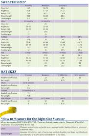 Baby Clothes Chart Cardigan Sizes Chart Sweater Measurement