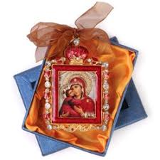 monastery greetings virgin child jeweled ornaments from russia religious spiritual gifts by monks nuns in abbeys convents hermies and