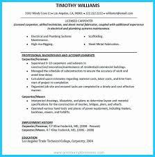 Carpentry Resume Samples Carpenter Job Description Resume Cancercells 21