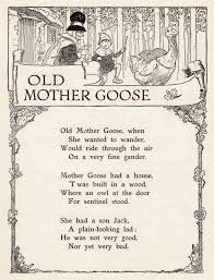 story book sundays black and white drawing old mother goose