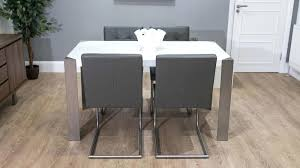 white gloss dining chairs grey cantilever dining chairs and white gloss dining table white high gloss