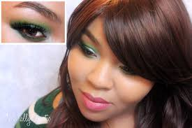 video green party makeup