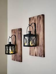 candle holders hanging lanterns wood