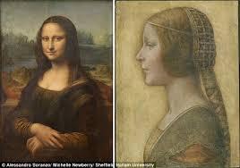 mystery of the mona lisa s smile solved using leonardo da vinci s  the study reveals how la bella principessa right painted by da vinci before