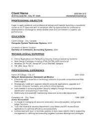 Sample Entry Level Resumes For College Students New Entry Level