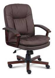 brown er leather office chair