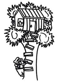 Small Picture A Dog Climb a Treehouse Coloring Page A Dog Climb a Treehouse