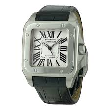 cartier watch santos 100 xl automatic winding leather ref a56502 cartier watch santos 100 xl automatic winding leather ref a56502 instant luxe