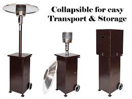 rhino collapsible patio heater bronze