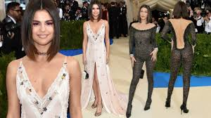Selena Gomez And Bella Hadid Hot Dress At Red Carpet Of Met Gala ...