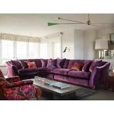 avery corner sofa purple velvet