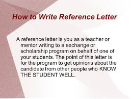 Writing Reference Letters Ppt Download