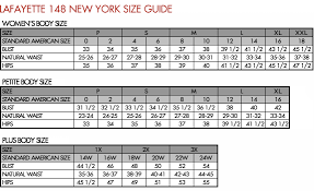 Tommy Hilfiger New York Fit Size Chart Lafayette 148 New York Size Guide Body Size Size Chart